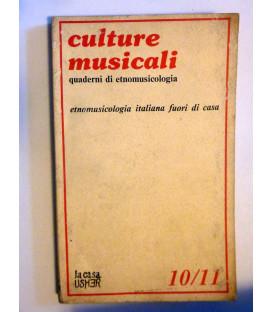 CULTURE MUSICALI  - ETNOLOGIA ITALIANA FUORI CASA
