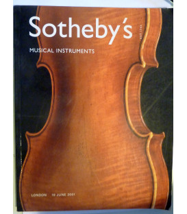 SOTHEBY'S MUSICAL INSTRUMENTS London 19 June 2001