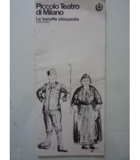 Piccolo Teatro di Milano LE BARUFFE CHIOZZOTTE di Carlo Goldoni