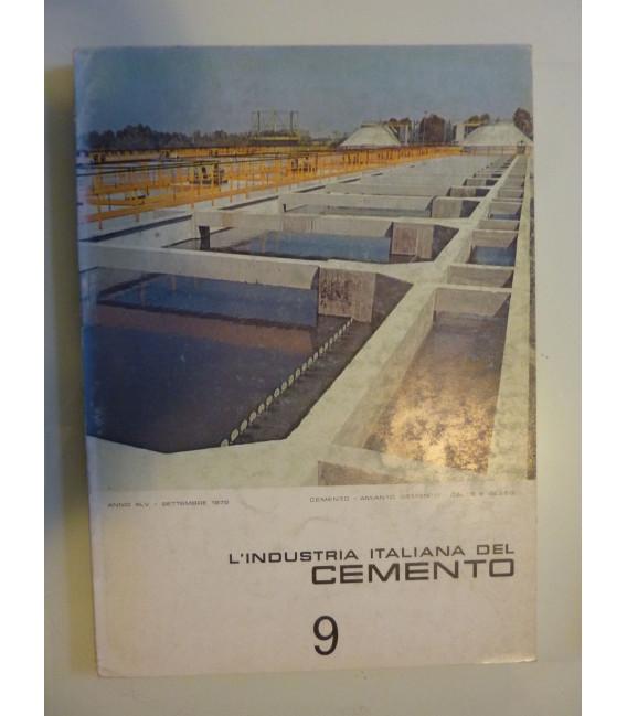L 'INDUSTRIA ITALIANA DEL CEMENTO Anno XLV Settembre 1975