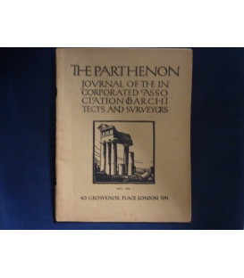 THE PARTHENON  JOURNAL OF THE INCORPORATED ASSOCIATION OF ARCHITECTS AND SURVEYORS May 1934