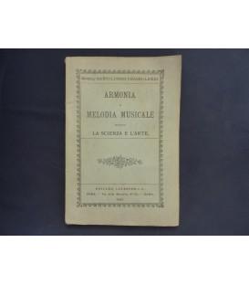 ARMONIA E MELODIA MUSICALE SECONDO LA SCIENZA E L'ARTE