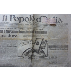 IL POPOLO D' ITALIA Fondatore BENITO MUSSOLINI Anno XXI n.° 69 Venerdì  22 Marzo 1934 Anno XII CONTINUA LA RIPERCUSSIONE INTERNAZIONALE DELLA  PAROLA DEL DUCE