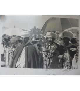 Grande Fotografia CLERO COPTO GONDAR AFRICA ORIENTALE ITALIANA