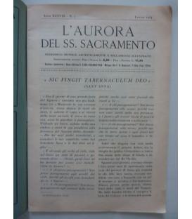 L'AURORA DEL SS. SACRAMENTO Anno XXXVIII n.° 7 Luglio 1934