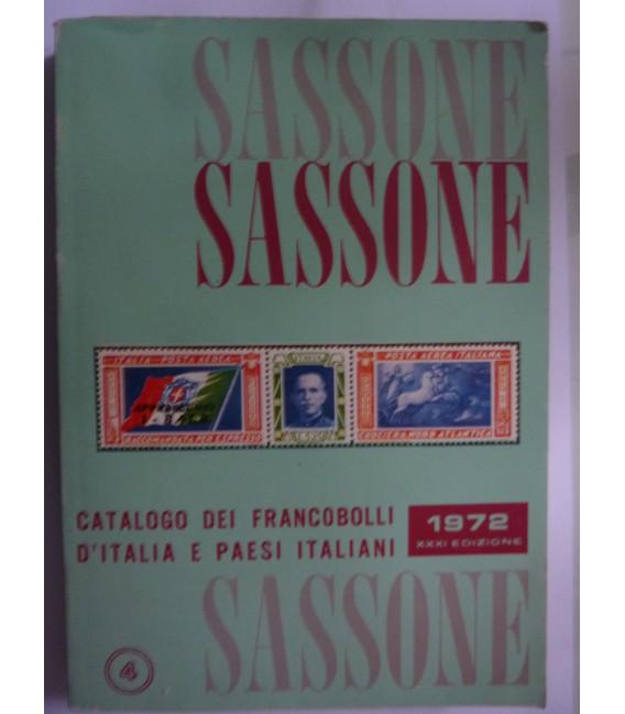 CATALOGO SASSONE DEI FRANCOBOLLI ITALIANI 1972