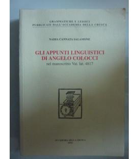 GLI APPUNTUI LINGUISTICI DI ANGELO COLOCCI nel manoscritto Vat. lat. 4817