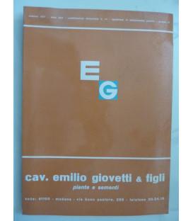 CAV. EMILIO GIOVETTI & FIGLI MODENA Piante e Sementi Autunno 1971